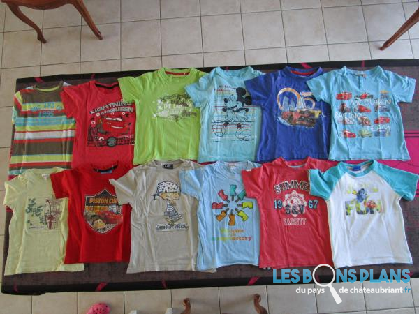 Lot tee shirt été